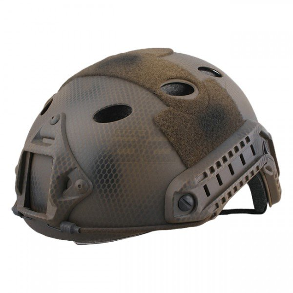 Emerson FAST Carbon Style ECO Helmet & Protective Goggle - Custom Camo