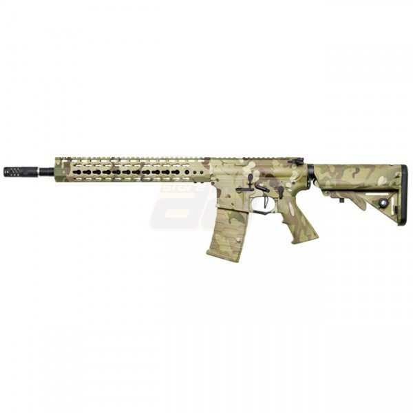 APS ASR115 12.5 Inch Key Mod Match Grade Blowback AEG - Multicam