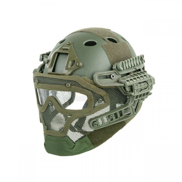 Tactical Mask & Helmet - Olive