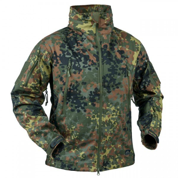 HELIKON Gunfighter Shark Skin Jacket - Flecktarn