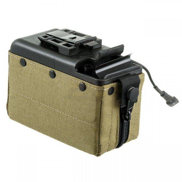 MAG M249 2500BBs Cartridge Pouch Magazine - Olive