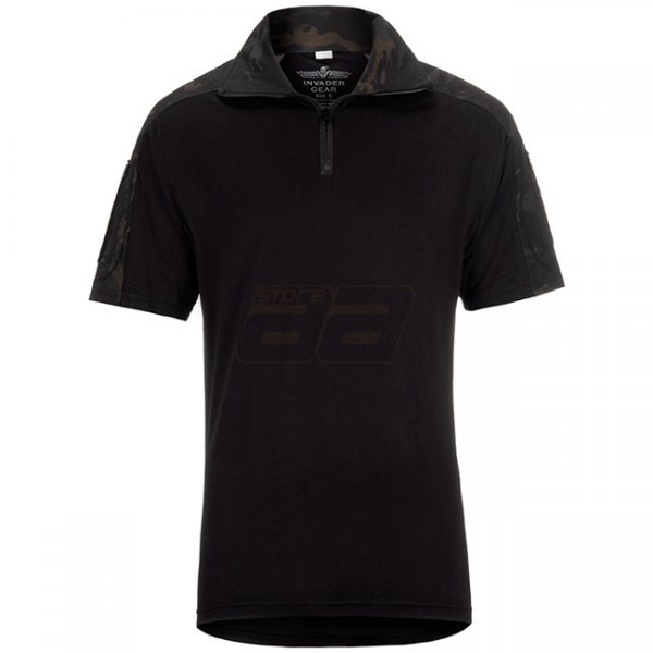 Invader Gear Combat Shirt Short Sleeve - ATP Black - S