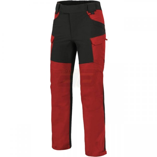 Helikon Hybrid Outback Pants Duracanvas - Crimson Sky / Black A - 2XL - Regular
