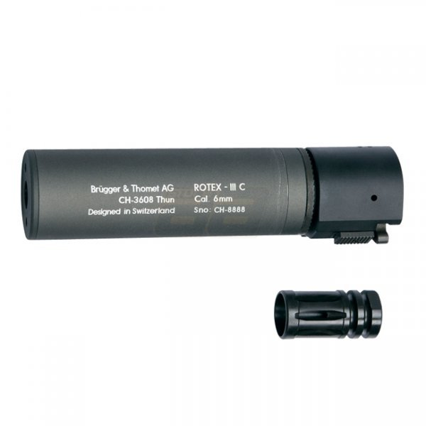 B&T ROTEX III Compact Silencer - Grey