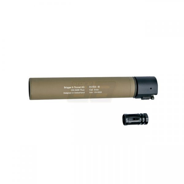 B&T ROTEX III Silencer - Tan