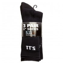 5.11 6 Inch Socks 3 Pack - Black