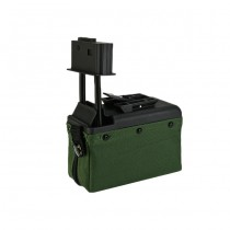 A&K M249 1500BBs Box Magazine - Ranger Green