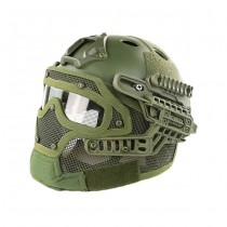 Tactical Mask & Helmet - Olive 2
