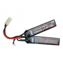 ASG 7.4V 1300mAh Li-Po 20C Battery - Twin Type