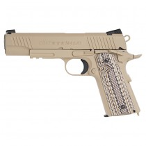 KWC Colt M45A1 Rail CO2 Blow Back Pistol - Tan