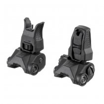 PTS Enhanced Polymer Back Up Iron Sight Set BUIS - Black