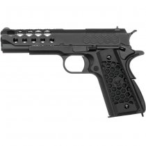 WE 1911 HEX Cut Gas Blow Back Pistol - Black