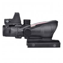 Aim-O ACOG 4x32C Illumination Fiber Optic Scope & RMR Red Dot Sight - Black