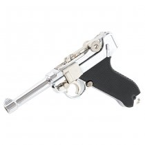 Blackcat Mini Model Gun P08 - Silver