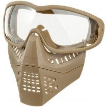 Ant Type Clear Lens Mask - Tan