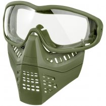 Ant Type Clear Lens Mask - Olive