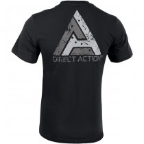 Direct Action T-Shirt Logo D.A. PL Flag 1 - Black 2XL