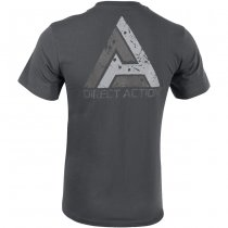 Direct Action T-Shirt Logo D.A. PL Flag 1 - Shadow Grey S