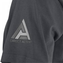 Direct Action T-Shirt Logo D.A. PL Flag 1 - Shadow Grey 3XL
