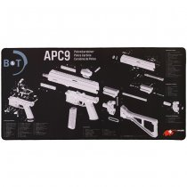 B&T APC9 Exploded View Tech Mat - Large