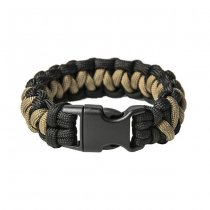 Pitchfork Paracord Bracelet Buckle - Black / Tan
