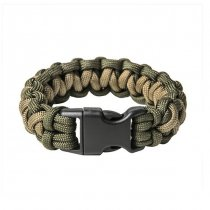 Pitchfork Paracord Bracelet Buckle - Olive / Tan