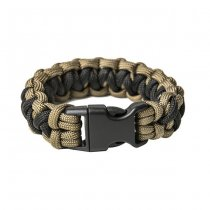 Pitchfork Paracord Bracelet Buckle - Coyote / Black