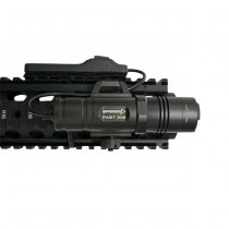 Opsmen FAST 302R Compact Picatinny Rail Flashlight - Black