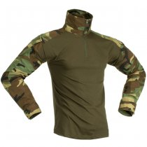 Invader Gear Combat Shirt - Woodland - L
