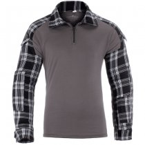Invader Gear Flannel Combat Shirt - Black - S