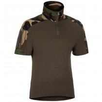 Invader Gear Combat Shirt Short Sleeve - Woodland - L