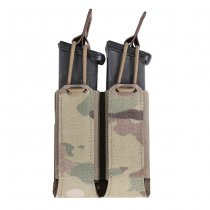 Warrior Laser Cut Double Bungee Pistol Magazine Pouch - Multicam